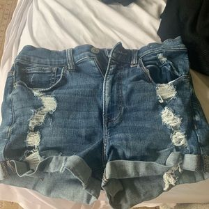 Express distressed shorts